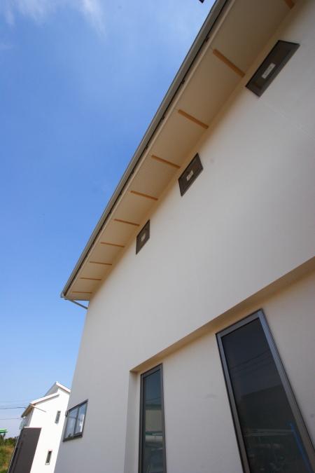 岡山市北区撫川にて建築中の注文住宅の外観です