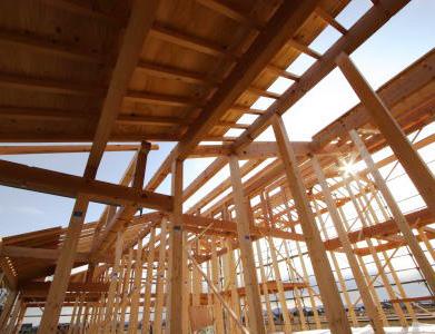 木造建築の骨組み